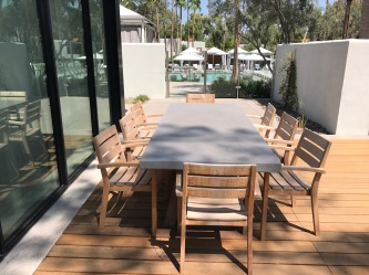 Andaz Scottsdale Presidential Suite Outdoor Dining Table